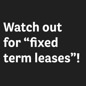 fixed term leases